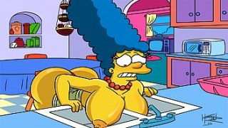 Die Simpsons Hentai – Marge Sexy (GIF)